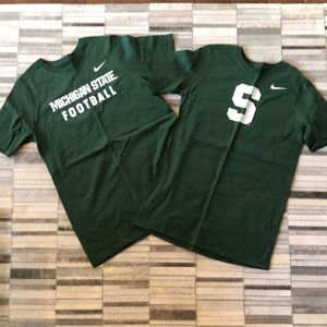 NWOT!Boys Athletic fit XL Cotton MSU Nike Tshirt's